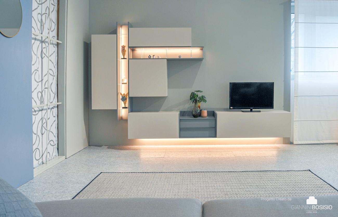 Arredamento Soggiorno Mobile Porta Tv Sospesi O A Terra Giannini Bosisio Living Sofa